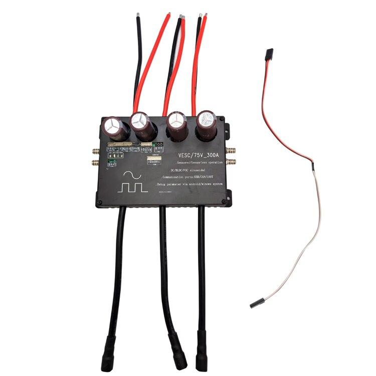 Контроллер VESC 16S, 75 в, 300 А, водонепроницаемый, с водяным охлаждением, для электродвигателя bldc