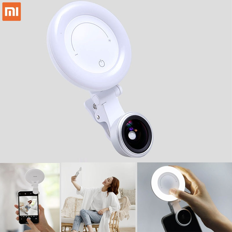 Xiaomi lentes de belleza wicue shot 120 ° super wide aperture selfi reflector, Xiaomi Redmi teléfono móvil autotemporizador lente de relleno de luz