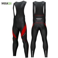 winter fleece mens cycling pants with bib warm reflective mtb bicycle cycle tights trousers bike mtb pants with 3d gel padded