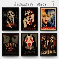 new scream kraft paper poster retro wall art crafts sticker living room paint bar cafe home decorative painting