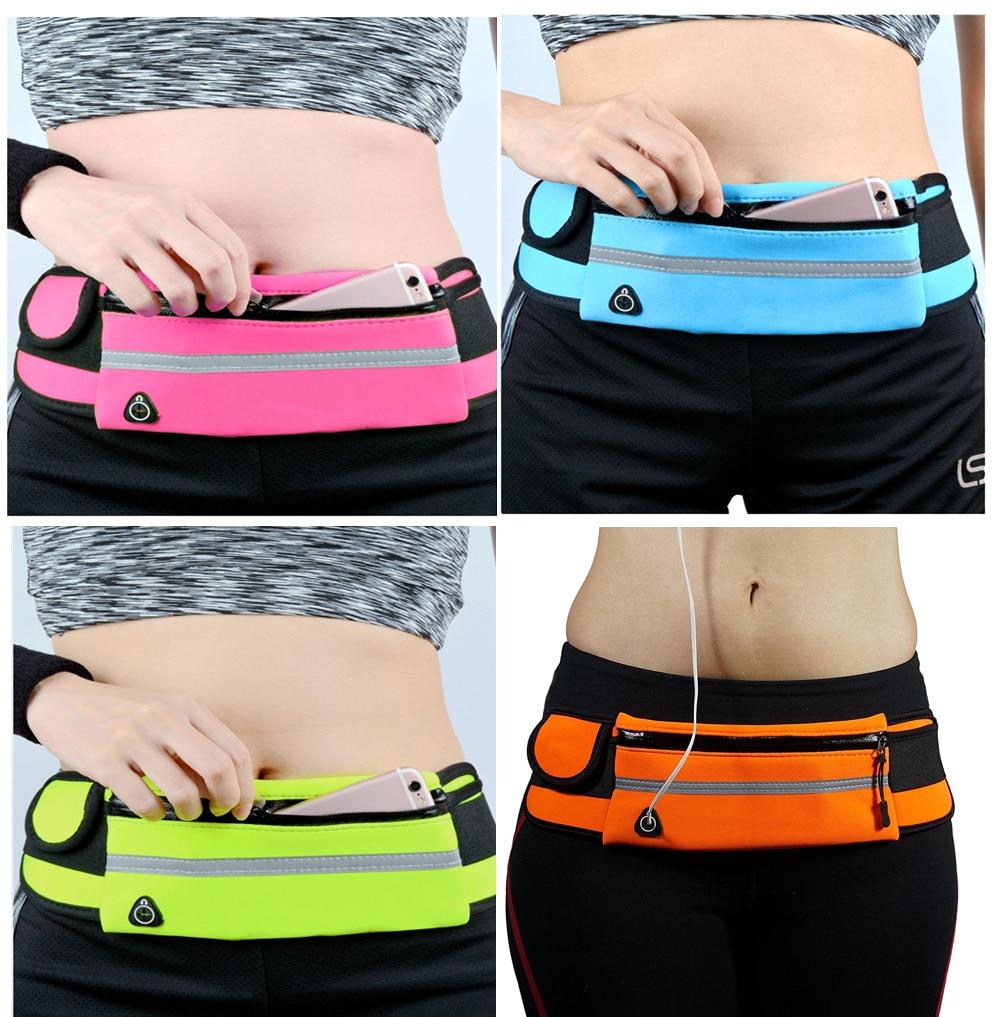 Waterproof Running Waist Bag Canvas Sports Jogging Portable Outdoor Phone Holder Belt Bag Women Men