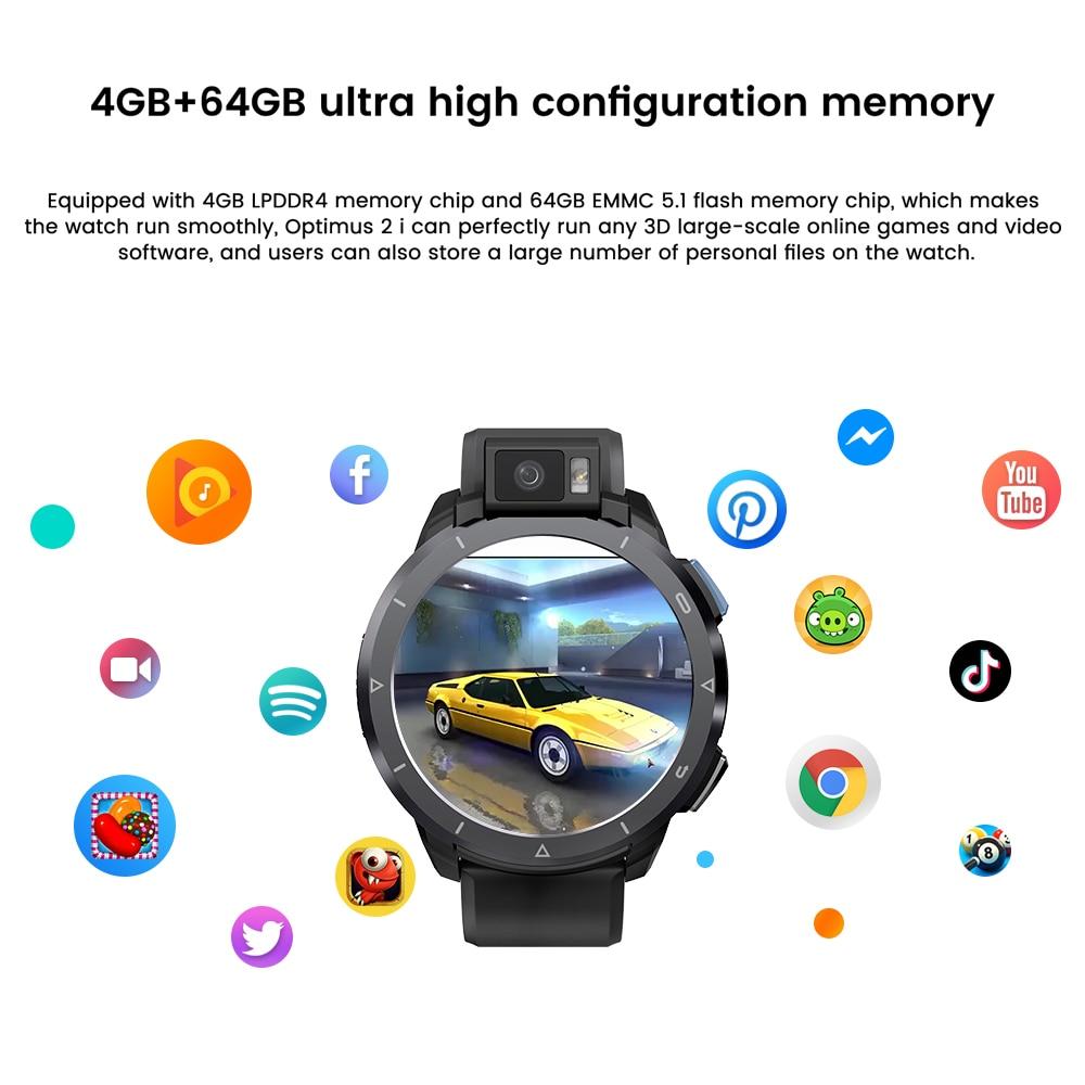 KOSPET Optimus 2 smart watch 4GB 64GB Full touch screen 2260mAh Sport Men's watches Fitness bracelet Smartwatch For Xiaomi ios
