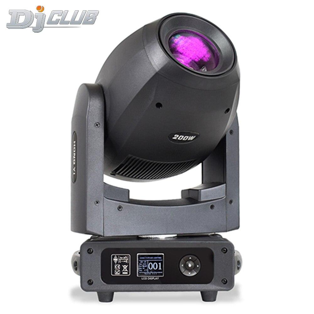 Новейшая модель; 200 Вт светодиодный Луч Moving головной светильник зум Лира гобо сценический светильник ing DJ диско вращающийся освещение для но...