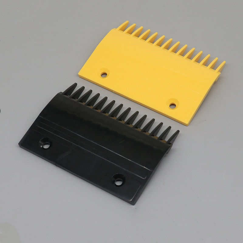 10 قطعة مشط السلم الكهربائي أسود ، قطع غيار السلم المتحرك YS017B313 YS013B578