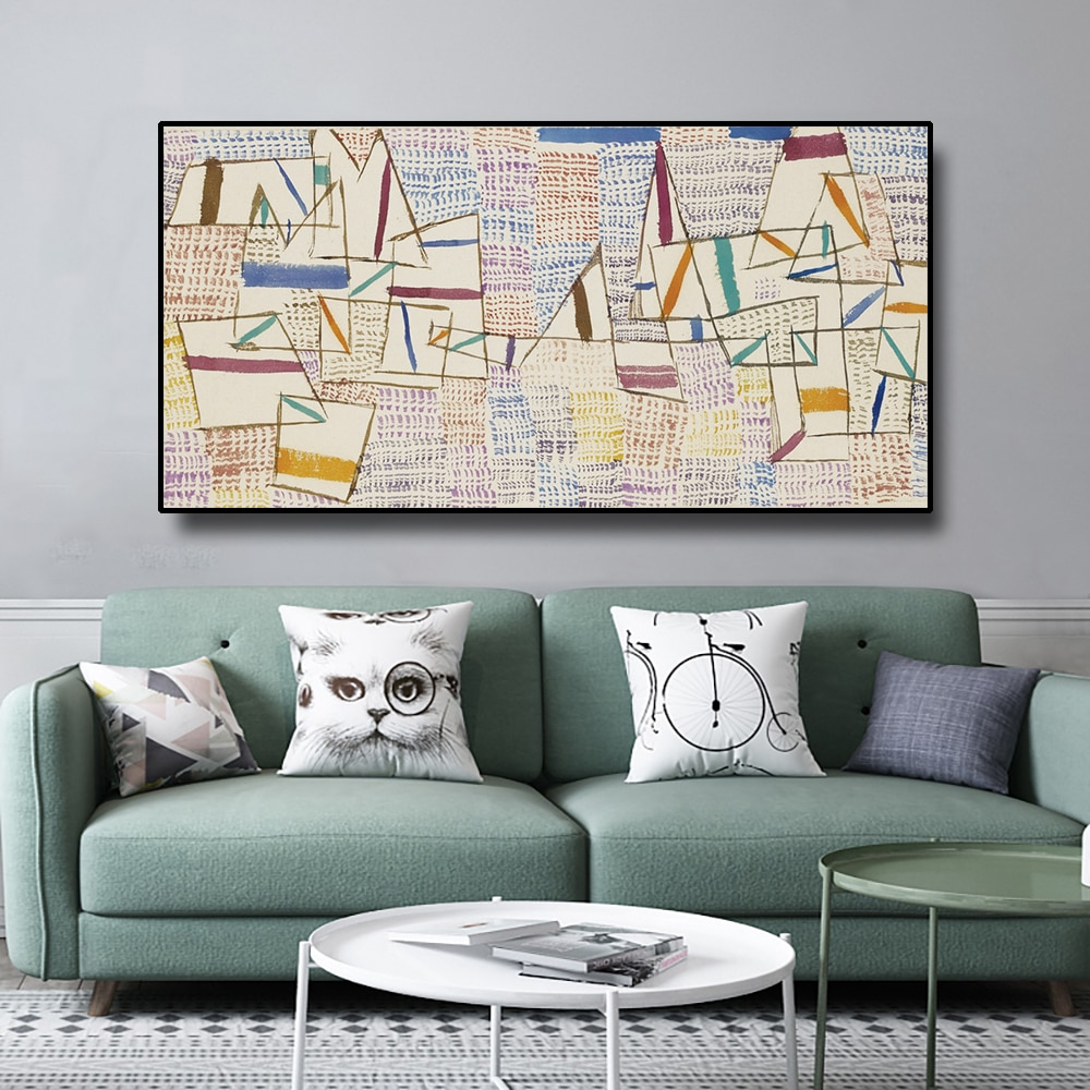 Cuadros de pared Laeacco Paul Klee, pósteres e impresiones, pintura en lienzo, caligrafía decorativa para sala de estar, dormitorio, decoración del hogar