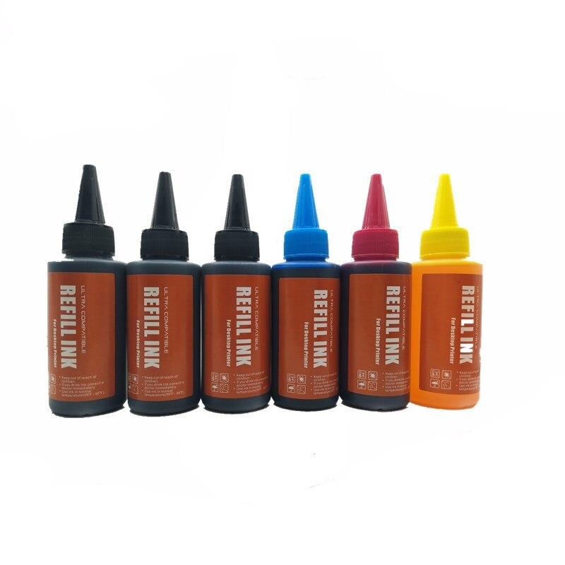 T0821 Kit de tinta de impresora para Epson StylusStylus R270 R390 RX590 TX700W TX800W TX720 TX700 TX800 RX610 recarga de tinta para sistema CISS