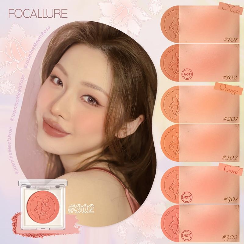 11Colors Single Blush Palette Face Mineral Pigment Cheek Blusher Powder Makeup Professional Contour Shadow