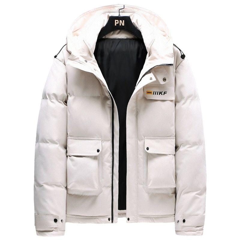 2021 Men's Down Jacket Winter Season  Warm Hooded Men's  Down Jacket Casual Warm Winter Overcoat (M-4XL)