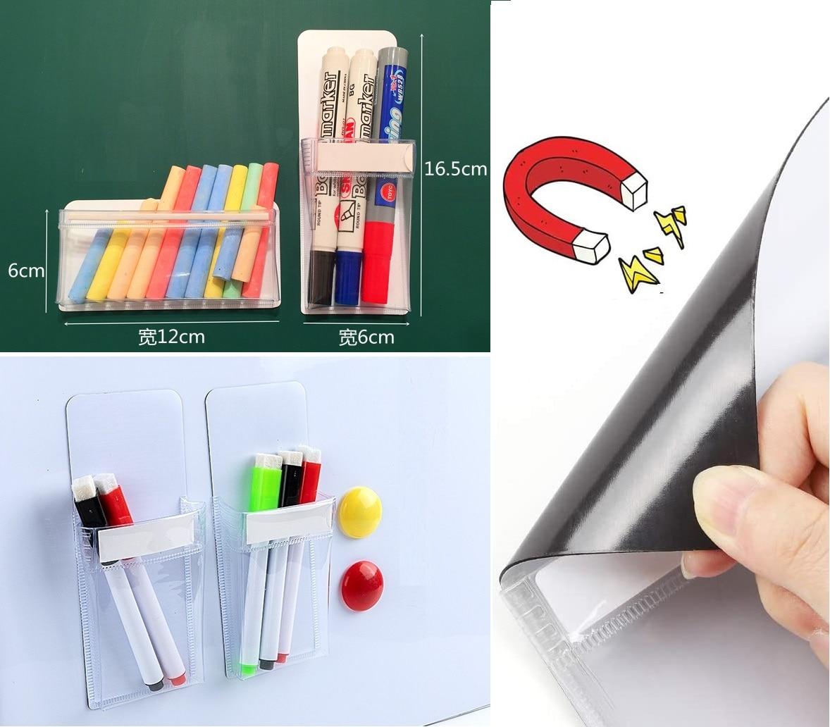 Магнитный Маркер Держатель ручки сумки держатель ластика для магнит для доски карандаш органайзер для хранения офисный холодильник Мел Де...
