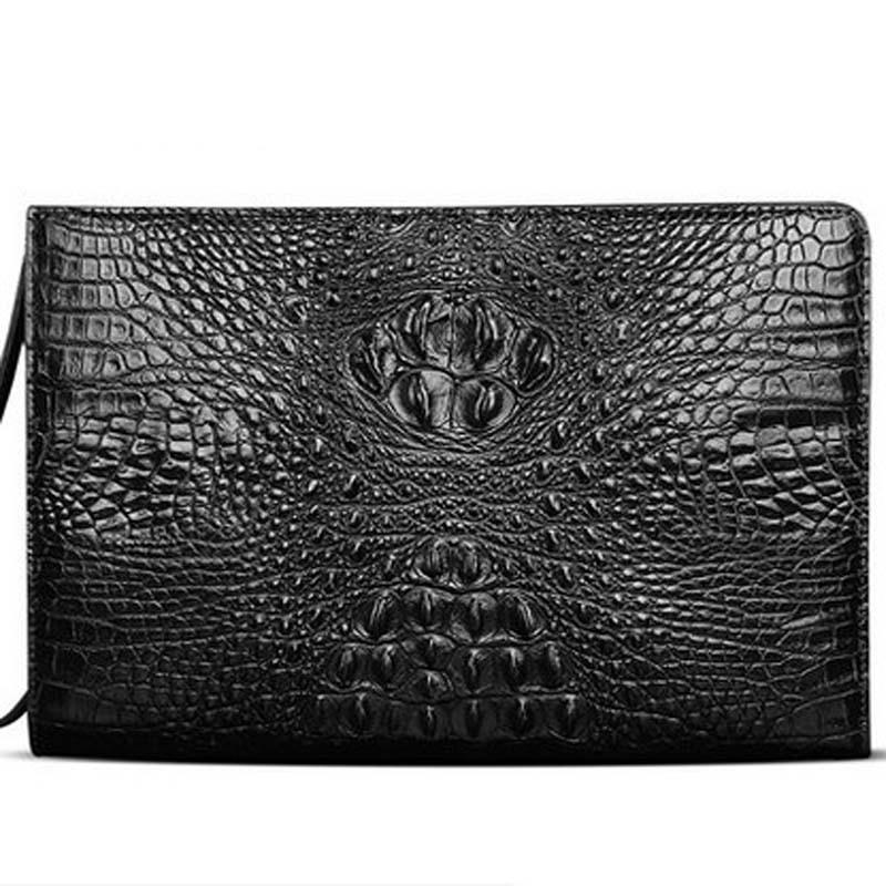 meixigelei new crocodile leather men bag crocodile leather man bag business casual men clutches large capacity envelope man bag