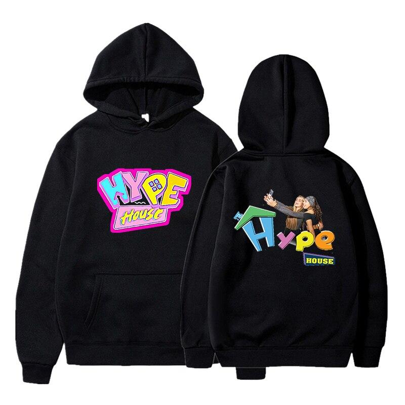 Male Hooded Pullovers Hype House Printing Hoodies Autumn Baggy Hooded Sportswear For Women/Men Boys/Girls Streetwear Sweatshirt