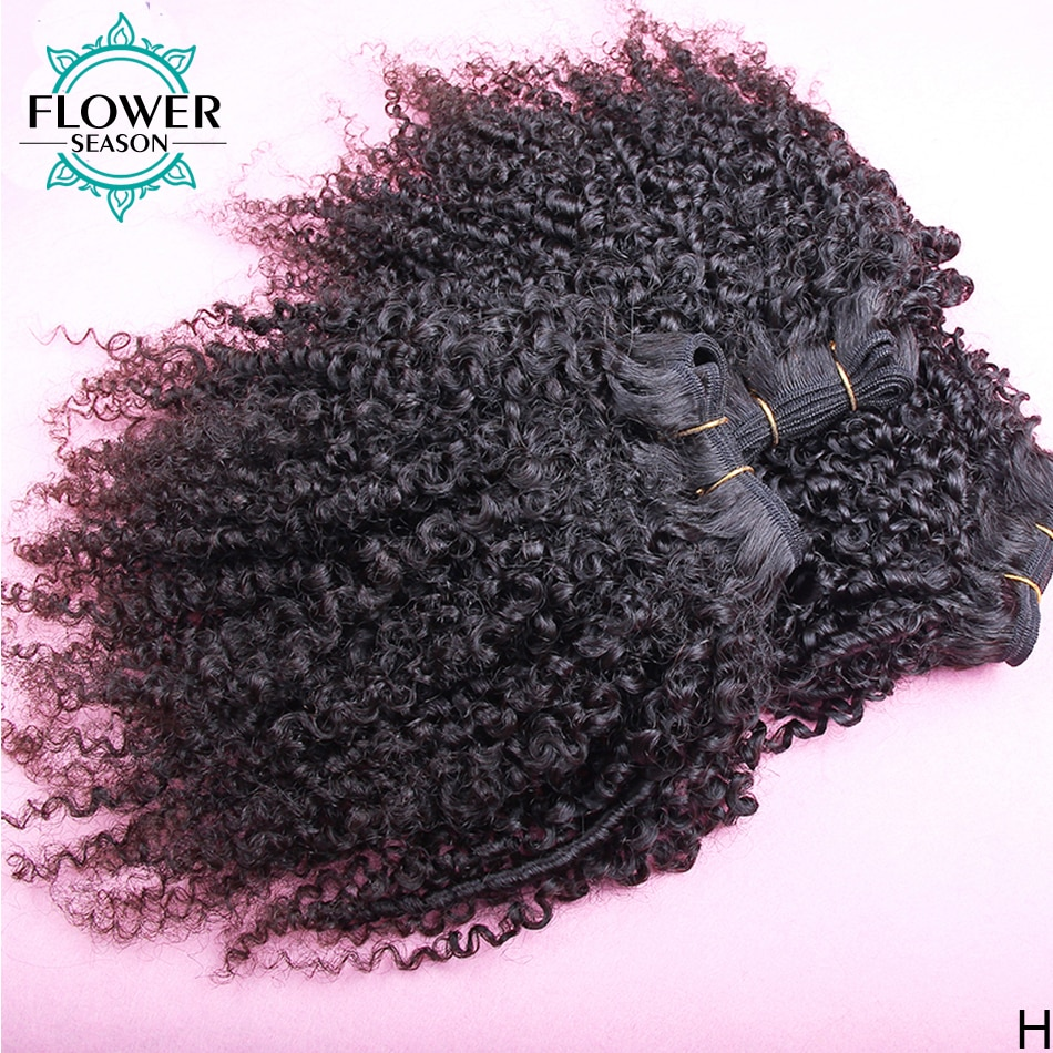 Afro Kinky Curly Hair Weave 1-2-3-4 Bundles Deal Indian Remy Hair 100% Human Hair Extension 8-26 Inc