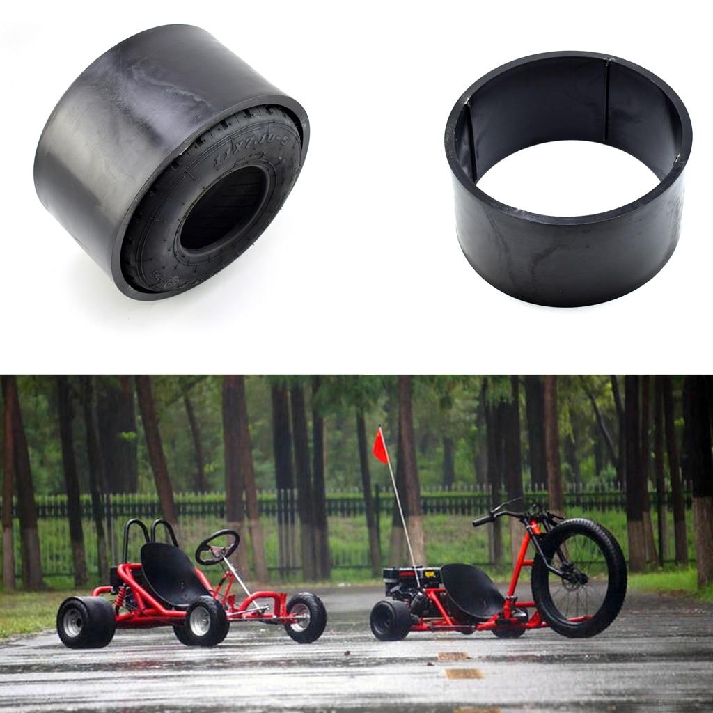 Gas Kart 10*4,5-5 pulgadas rueda de plástico de PVC de llanta de neumático Scooter manga Drift Trike de la calle de la rueda