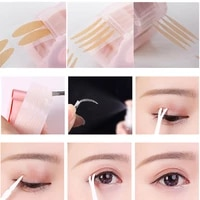 360pcs big eyelid tape sticker double fold self adhesive eyelid tape stickers sl makeup clear beige invisible tool
