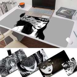 Maiyaca novo design junji ito tees horror único desktop pad jogo mousepad frete grátis grande mouse pad teclados tapete
