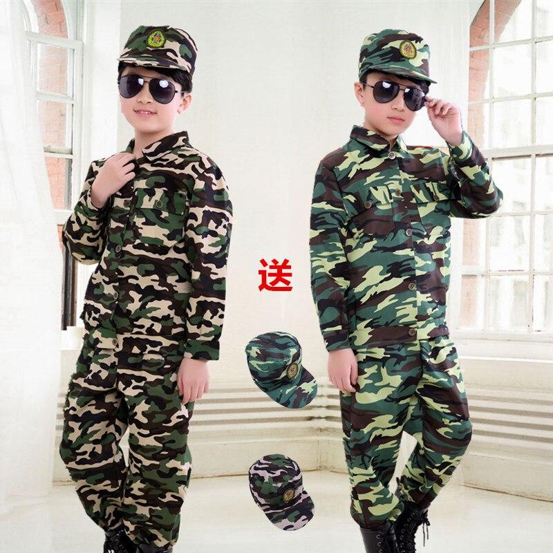 Новая камуфляжная одежда для детей, военная униформа для детей дошкольного возраста, одежда для выступлений, летняя тренировочная одежда д...