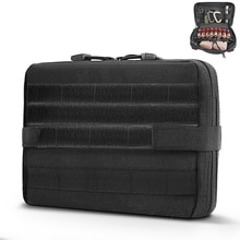 Tactical Molle Pouch Medical EDC EMT Bag Military Map Pocket Pack  Utility Gadget Gear Bag for Hunti