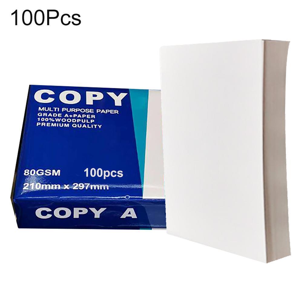 100 шт. A4 офисная бумага для печати Многофункциональный Художественный принтер A4 копировальная бумага офисные школьные принадлежности офис...