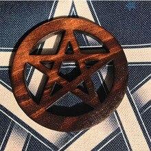 Bois pentagramme autel accessoires rituel Divination Wicca sorcellerie fournitures pour les décorations de table dautel