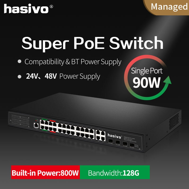 Фото - Support 24v 48v PoE managed switch with 4x90W PoE Gigabit port 4x30W PoE Gigabit port suitale for Hi power camera and devices 24v 8 port gigabit managed poe switch 24v non standard poe web management switch