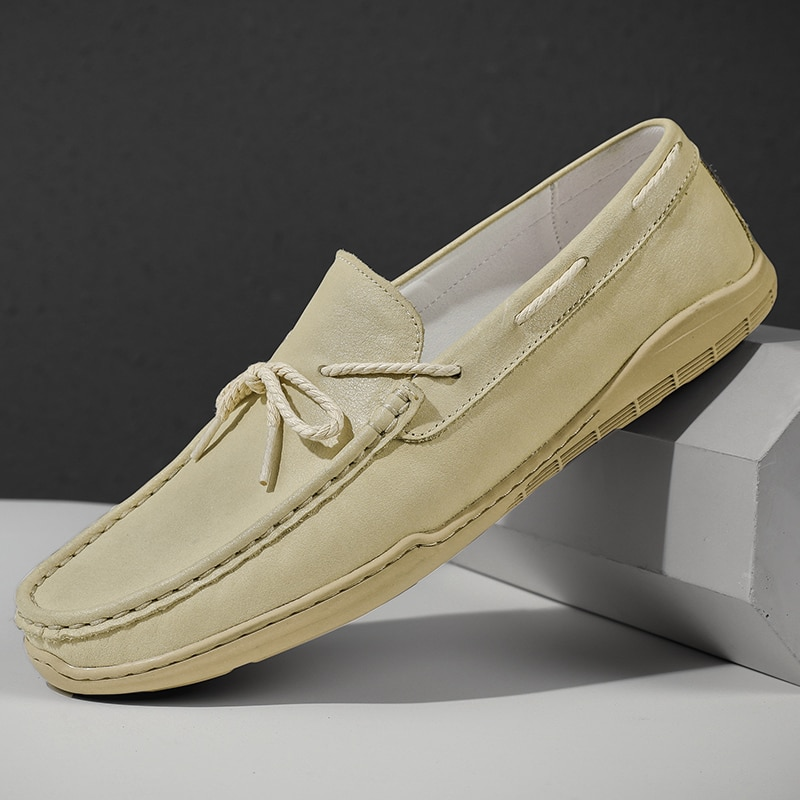 Luxury Designer Big Size Cow Suede Genuine Leather Loafers Men Flats 2021 Slip On Men Casual Shoes M