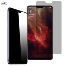 JGKK For OPPO R15 R15 Pro F7 F5 R9 R9S Privacy Screen Protector Premium Anti-Spy Tempered Glass Case
