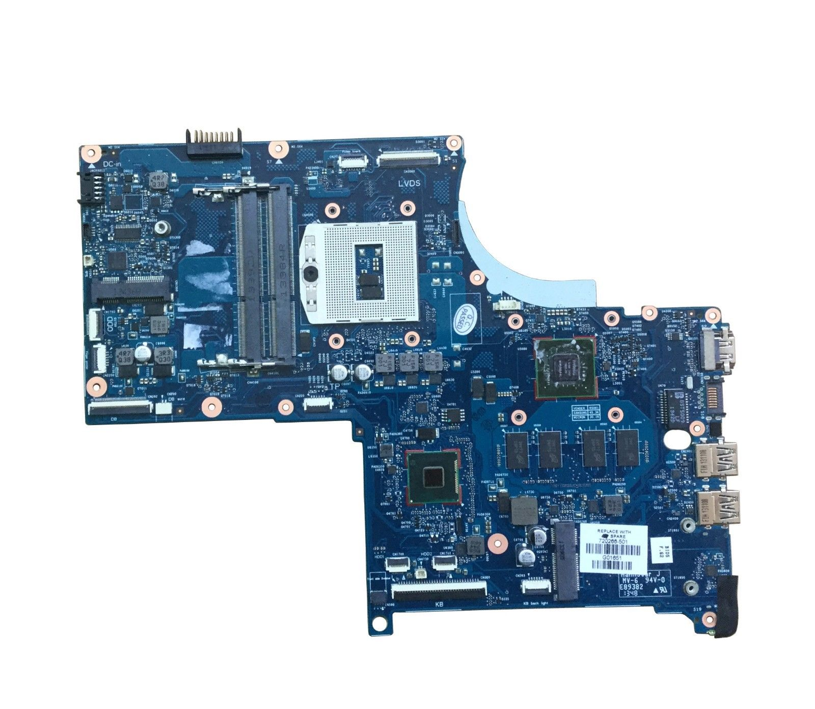 KEFU-اللوحة الأم للكمبيوتر المحمول HP ENVY 17 17-J ، اللوحة الرئيسية الأصلية GT740M 17SBGV2D-6050A2549801-MB-A02