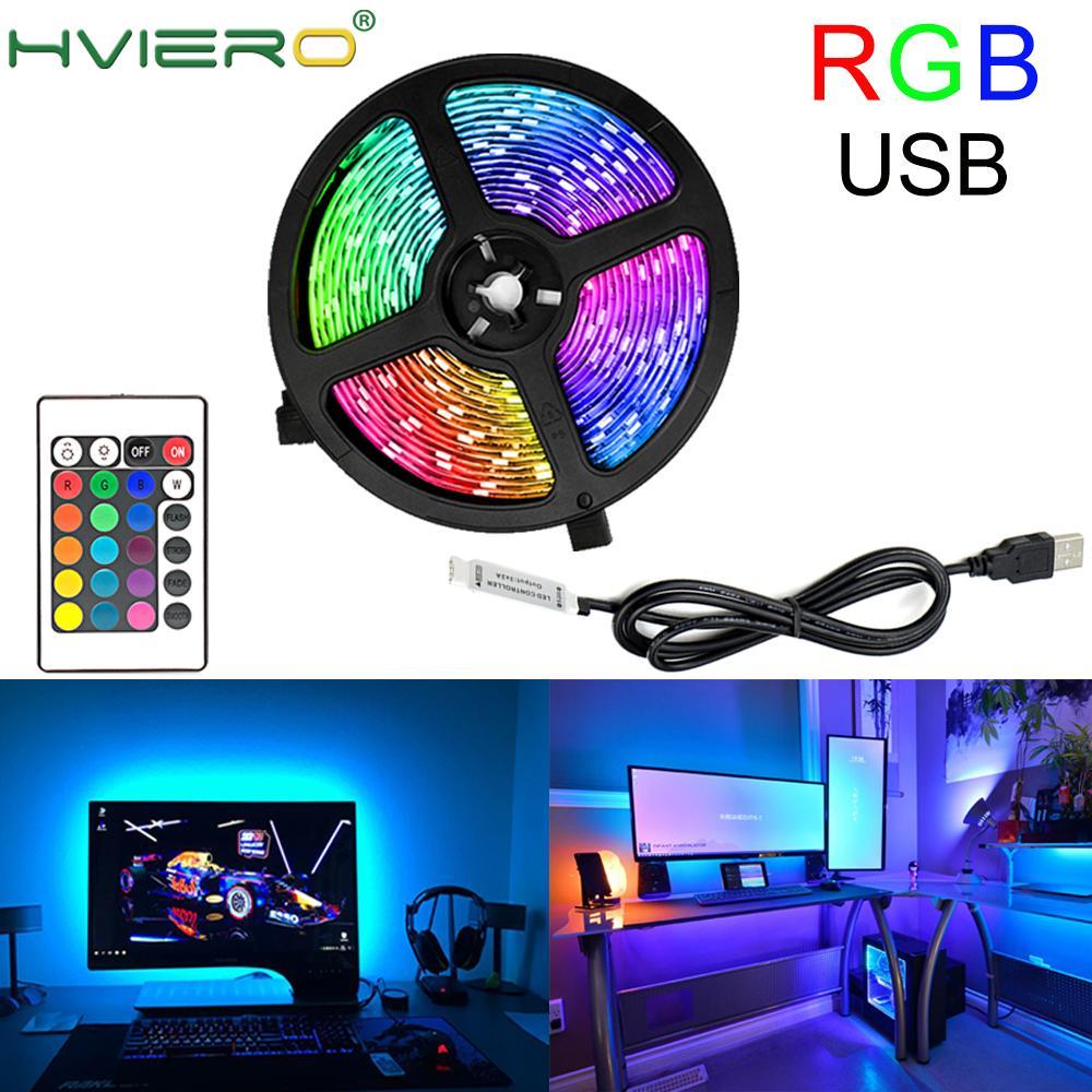 Usb Led Strip Lamp 2835 Smd DC5V Flexibele Led Light Tape Lint 1M 2M 3M 4M 5M Hdtv Tv Desktop Screen Licht Rgb Decoratieve Led
