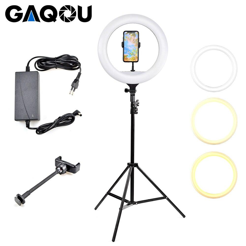 Кольцевая лампа 14 дюймов светодиодная кольцевая лампа с регулируемой яркостью освещение для фотосъемки со штативом подставка для телефона...
