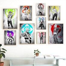 Drukuje obrazy do dekoracji mieszkania siedem grzechów głównych Anime ściana z obrazami sztuka moduł na płótnie plakat na tle nocnym