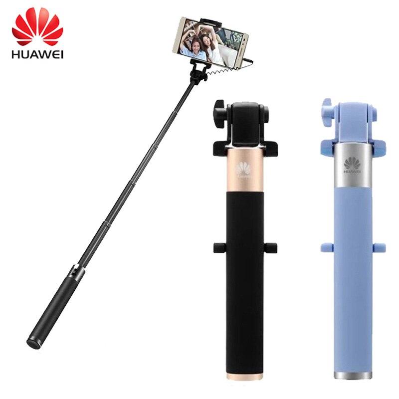 Huawei honor af11 selfie vara extensível tripé handheld obturador para smart iphone android smartphone monopé com fio selfie vara