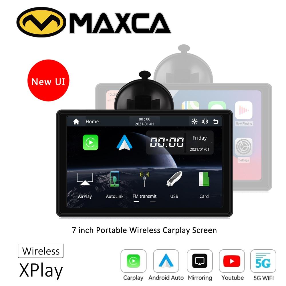 MAXCA XPlay المحمولة اللاسلكية Carplay شاشة 7 بوصة أبل Airplay اللاسلكية أندرويد السيارات Autolink مشغل وسائط متعددة