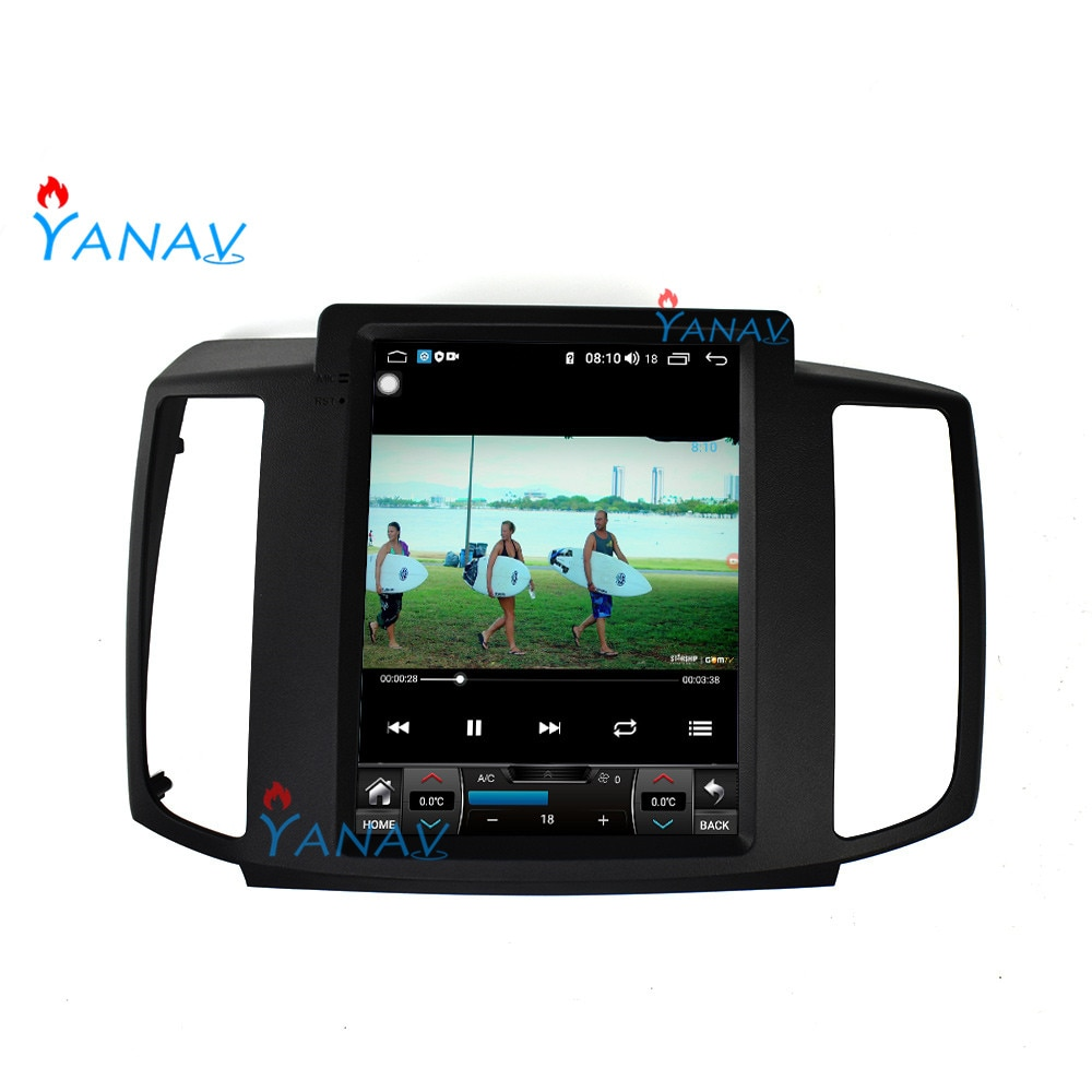 Reproductor de DVD y vídeo para coche Android para Nissan MAXIMA 2009-2012, reproductor multimedia estéreo de navegación GPS para coche, pantalla táctil vertical tesla
