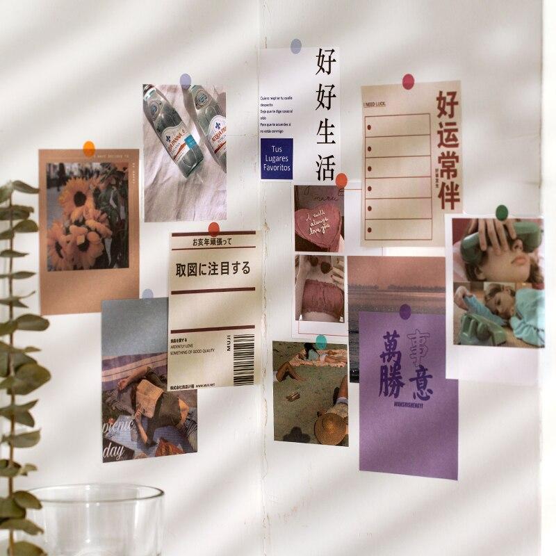 Mohamm 200 pçs tempo memorando série nota portátil bonito retro decoração scrapbooking papel criativo material escolar