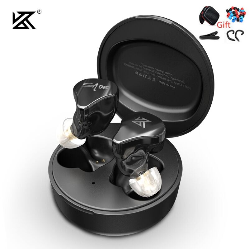 Fones de Ouvido Bluetooth sem Fio Toque com Cancelamento Fones para s2 Verdadeiro 8ba Unidades Jogo Controle Ruído Esporte kz Sa08 Tws V5.0