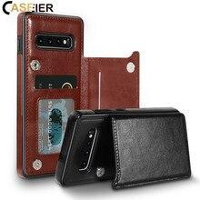 CASEIER fentes pour cartes étui pour samsung Galaxy Note 10 Pro 5G Note 9 8 support étui pour samsung S10 S9 S8 S10e cuir Funda Couque