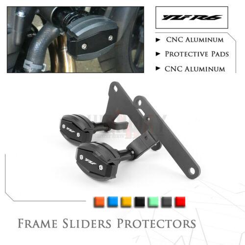 Motorcycle CNC Falling Protection Frame Slider Fairing Guard Crash Pad Protector For YAMAHA YZF600 YZF R6 YZFR6 2017-2018 yzf600 yzf r6 97 02 motorbike motorcycle voltage rectifier regulator spare part for yamaha