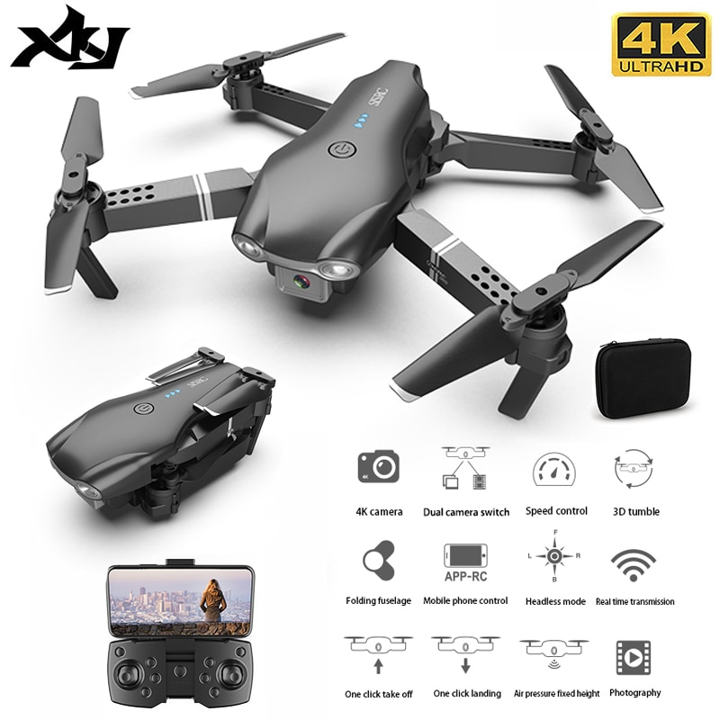 XKJ S602 RC Drone 4K HD Dual Camera Professional Aerial Photography WIFI FPV Foldable Quadcopter Hei