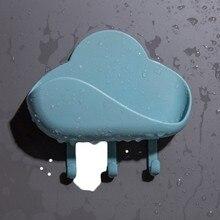 Porte-savon mural pour salle de bain, Simple, porte-savon, éponge, serviette, crochet, accessoires de salle de bain, plats auto-adhésifs