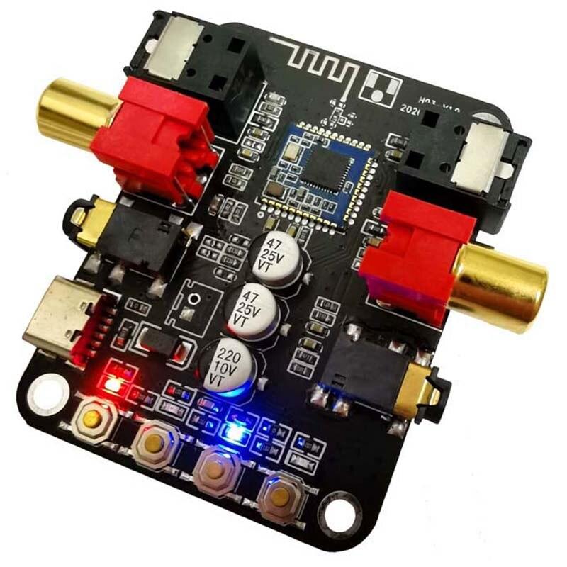 5V Bluetooth 5,0 receptor convertidor del transmisor de fibra coaxial salida estéreo 24Bit-192K o placa amplificadora