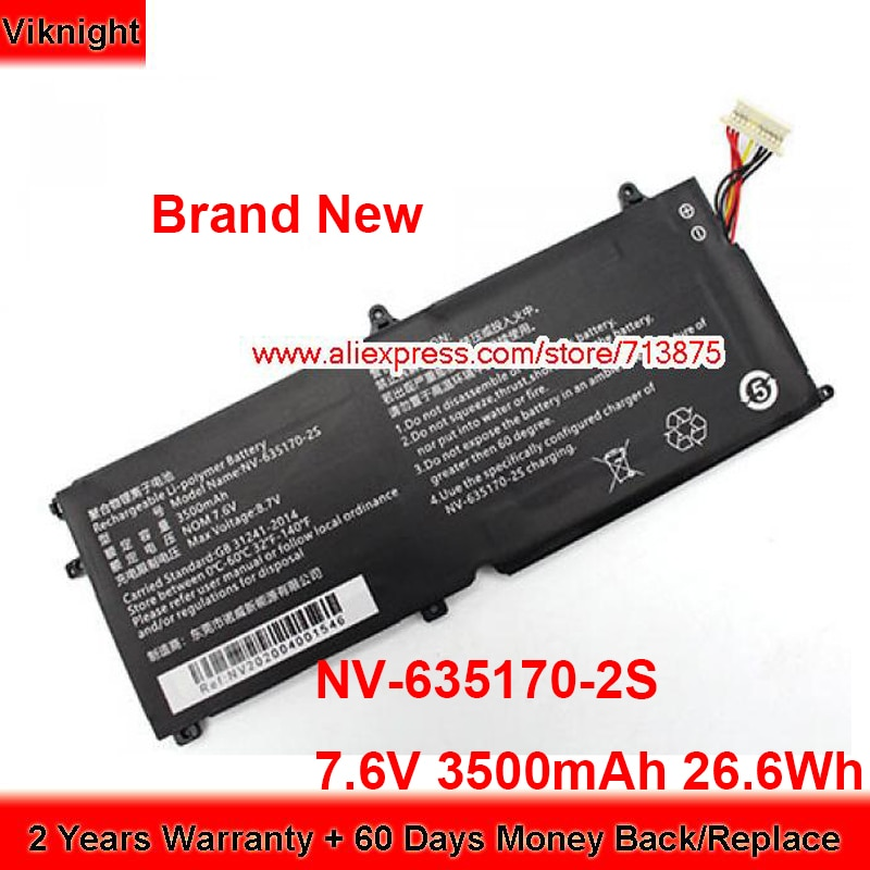 Get Brand New NV-635170-2S Battery for Chuwi MiniBook CWI526 NV6351702S 7.6V 3500mAh 26.6Wh