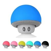 cartoon small mushroom head bluetooth sound box silicon rubber sucker desktop loudspeaker portable mobile phone bracket sound
