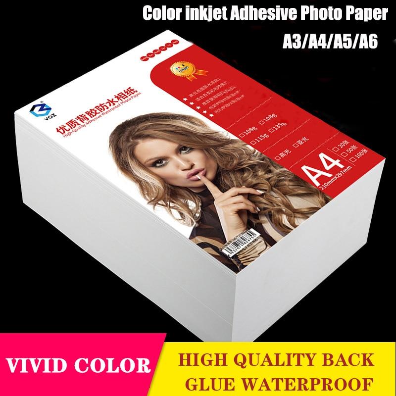 Новая самоклеящаяся фотобумага 135 г/150 г, фотобумага для струйной печати, фотобумага A3/a4/a5/a6, наклейка для фотографий, водостойкая глянцевая ф...