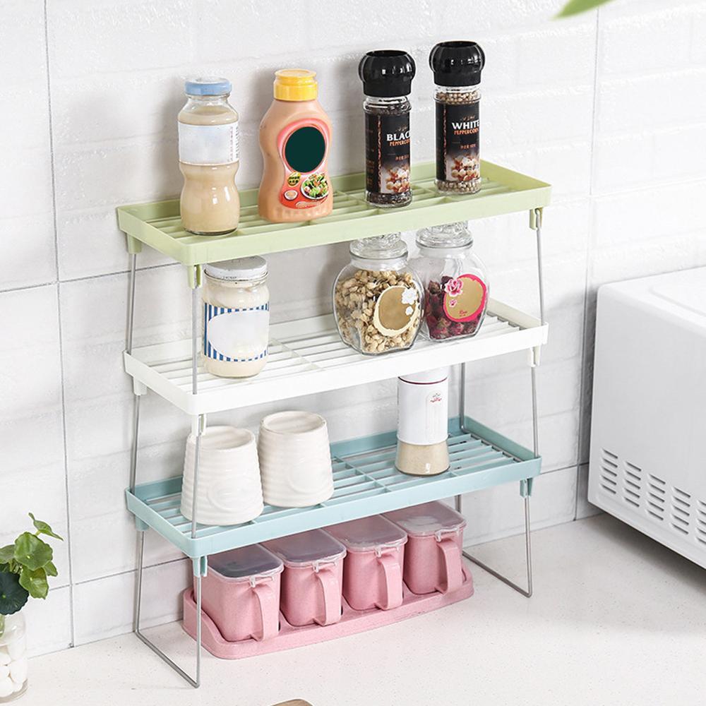 Кухонная стойка для хранения, стойка для кухни ванной комнаты, двухслойная столешница, органайзер для хранения, полка, держатель, сливная стойка, аксессуары B40