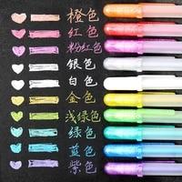 10 color japan sakura cherry blossom highlight pen marker sketch pens for diy drawing graffiti art supplies school stationery