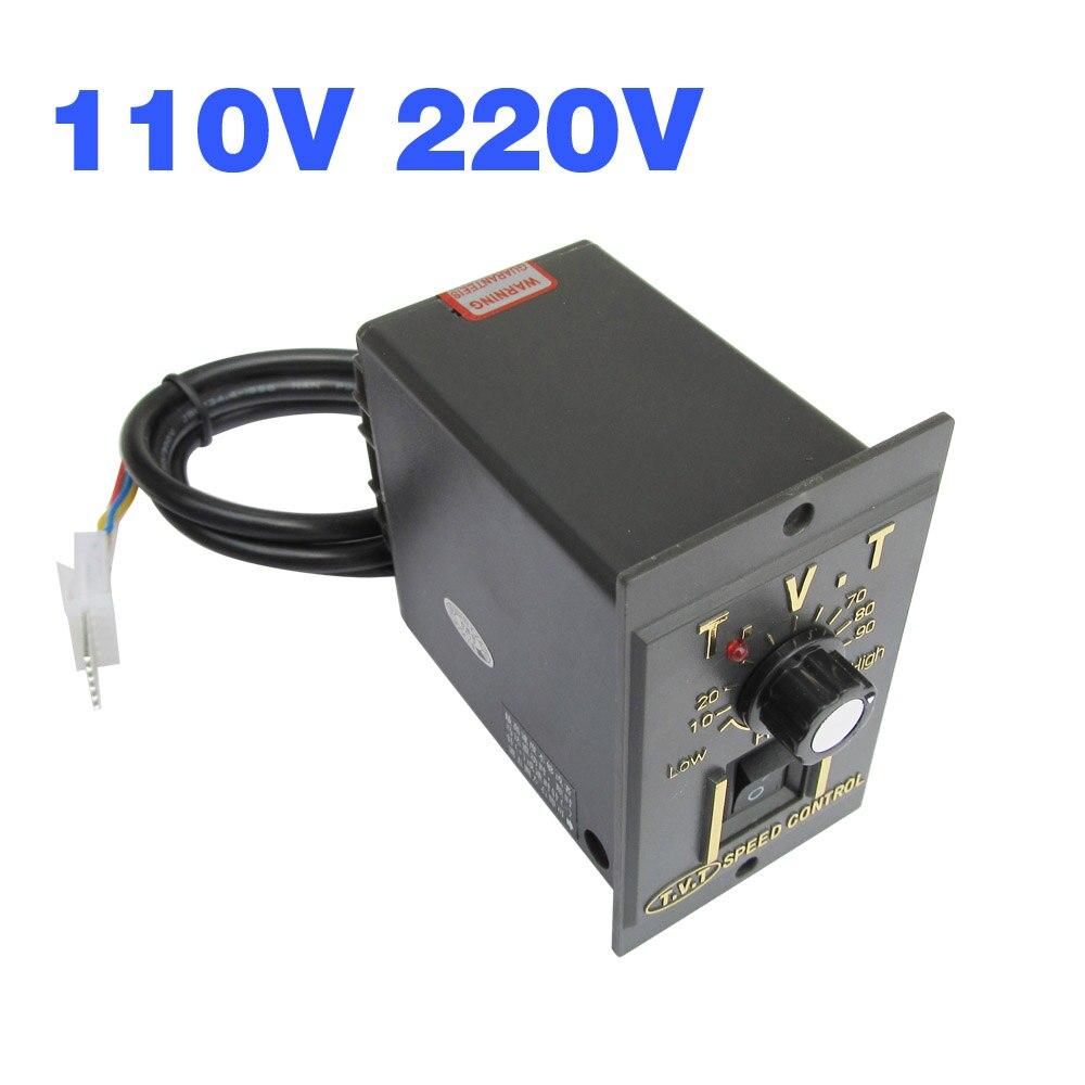 Ac 110V 220V Motor Elektrische Speed Controller Gouverneur 6W 15W 25W 40W 60W 90W 120W 200W Verstelbare Regulator Schakelaar Controle