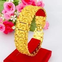 bracelet nansha gold leather show bracelet brass plated genuine gold lovers watch buckle gold plated bracelet