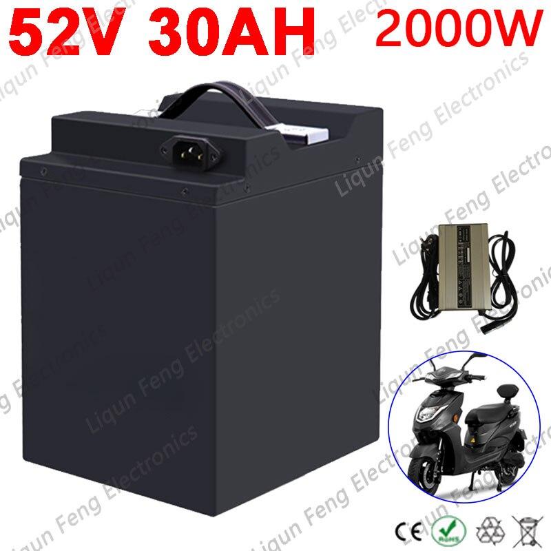 No Tax Electric Motorbike 48V Lead acid Change to 52V Lithium Battery 52V 20Ah 22Ah 25Ah 30Ah Fit for 48V 500W 1000W 2000W Motor