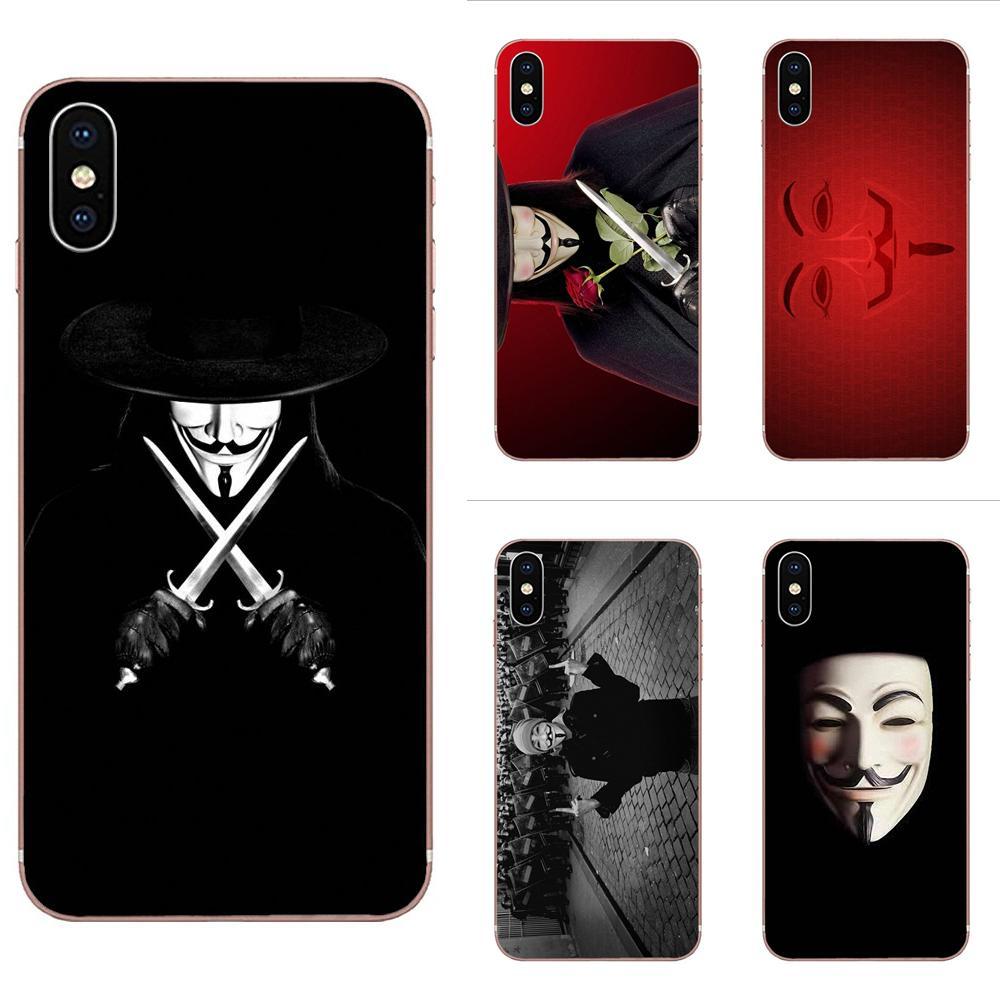Cubierta del TPU para el iPhone 11 Pro Max Plus Pro X XS X Max XR 8 7 6S SE 4S 5 5C 5S SE 2020 anónimo rebelde