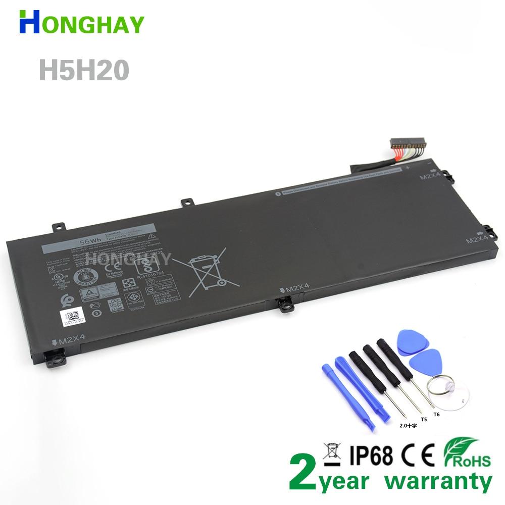 HONGHAY H5H20 بطارية كمبيوتر محمول لديل XPS 15 9560 9570 15-9560-D1845 الدقة M5520 5530 62MJV M7R96 05041C 5D91C 11.4V 56Wh